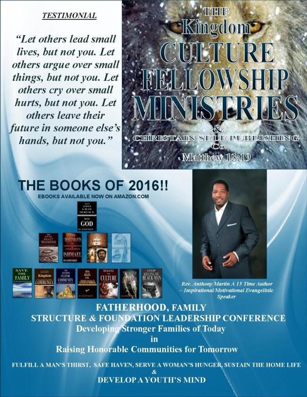 The Kingdom Culture Fellowship Ministries-Speakers Workshops Porfolio