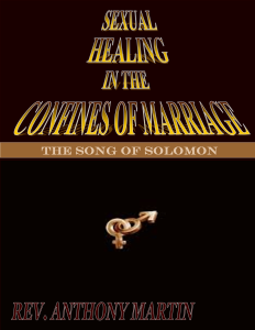Sexual Healing In The Confines of Marriage